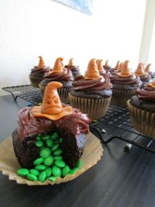 And it seems whoever opened this cupcake is in Slytherin. Still, at least they're chocolate.