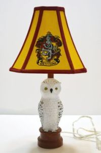 Well, it has a Gryffindor lampshade and a Hedwig lamp body. Still, I think it's brilliant.
