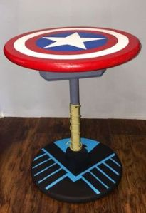 This is made from Captain America's shield, Thor's hammer, and the S.H.I.E.L.D.'s logo. Pretty creative if you ask me.