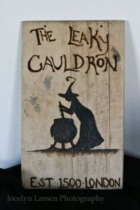 This is a Leaky Cauldron sign. Nevertheless, I think it almost seems like you'd see in the movie.