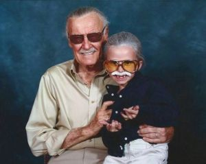 Actually she's a cosplayer. But Stan Lee was nonetheless flattered. This photo is so adorable though.