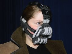 It's one of the few crocheted pieces in the world that's bound to strike terror in Gotham City. Seriously, Bane is a menace, especially if you account that he beat the living crap out of Batman in the Dark Knight Rises.