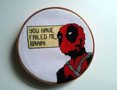 Yes, this is another Deadpool stitching pattern. Not sure why he's so popular among embroidery people.
