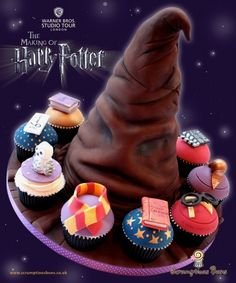 This is another professionally made cake. But I like the Harry Potter cupcakes surrounding it.