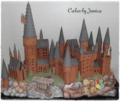 I know it's on top of a cake. But this gingerbread Hogwarts is a wonder to look at.