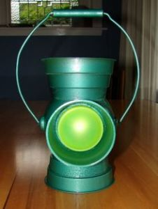 I may not know or care much about the Green Lantern. But I have to admit this is a cool lamp.