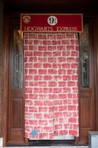 Actually it's a curtain of the wall that wizards have to go through to get to Platform 9 3/4. Still, it's pretty clever.