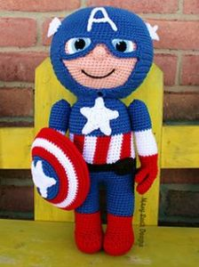 Yes, he's a super soldier with a super shield. And he's super cute, too. The one in the movies isn't bad looking either.