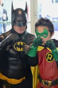 It's fair to say that these two are father and son who seem about to fight crime together. Still, it's adorable.