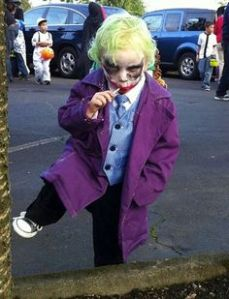 Well, we all had to be young once. Even Heath Ledger's Joker. God knows what he'd be like on the playground.