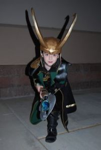 Yes, he may be one of Marvel's baddies. But he sure looks adorable with his horned helmet and staff.