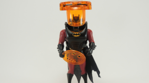 "From Goliath: ""At least the name of this one sounds useful. Maybe Batman is using infrared technology so he can see bad guys better in the dark, or perhaps locate some far off alien homeworld that poses a threat to Earth. Nope. That would just make too much gosh darn sense. Which is why Infrared Batman is a pile of red and orange plastic that shoots so-called ""photon disks"" out of some sort of giant garbage can that sits atop his head. Justice never looked so good."""