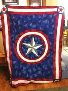 Yes, this is the quality American super soldier quilt. And yes, it's incredibly awesome.