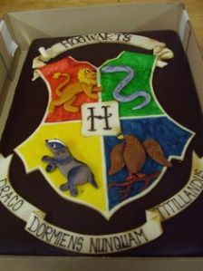 This Hogwarts crest on this cake seems more official looking than the last one I put on this post. But I like it.