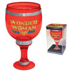 More like a Wonder Woman pimp cup if you ask me. I think it makes more sense to be like Wonder Woman if you bought a small replica of the Goblet of Fire.