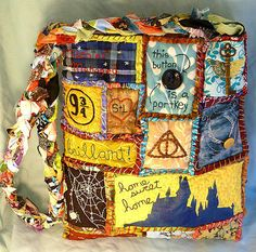 Yes, I know it's another Harry Potter patchwork bag. But this one is in a different design. So creative though.