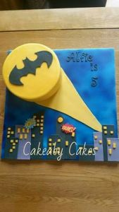 Well, this is great bat signal cake. However, when you see this during a party at Wayne Manor, don't be surprised if your host decides to leave early.