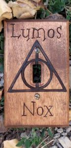 As any Potter fan knows, Lumos means light and Nox means night. It's pretty straightforward.