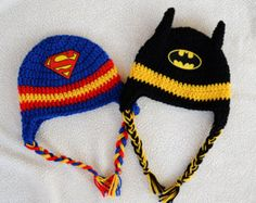Yes, it's Batman vs. Superman with the crocheted hats. Not sure which one will win out of the 2.