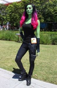 Like Black Widow, Gamora was also screwed out of the merchandising. Also, I'm sure her green skin will attract the attentions of one James T. Kirk.