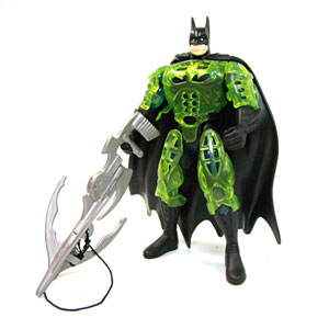 "From Goliath: "" Neon Armor Batman is nothing more or less than the name implies. A Batman that glows neon green—presumably a remnant from Bruce Wayne's days as a hardcore raver."""