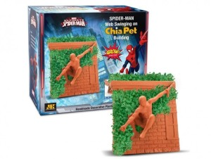 Then again, I suppose a Spider Man chia head would be worse. But I'm not sure if a plant covered wall is great for Spidey's climbing abilities.