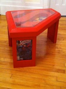 This is even red and decorated with Superman comics. Bet it doesn't come cheap though.