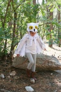 Seems like this Hedwig costume is easy to make with the owl hat and wings. And it's so adorable.