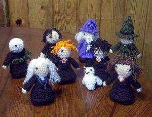 This one includes Harry, Ron, Hermione, Hedwig, Dumbledore, McGonagall, Snape, Lucius Malfoy, and Voldemort. Nevertheless, these are adorable.