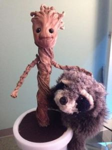 Yes, this is somebody's craft project which I found on Pinterest. And yes, it's so adorable. Baby Groot is so cute.