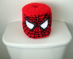 Really, how is a toilet paper cover essential? Seriously, why get these whether or not they have Spider Man's face on them?