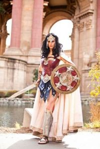 Well, she is said to be a princess of the Amazons. However, some of her comics depict the Greek gods way out of their true mythological nature.