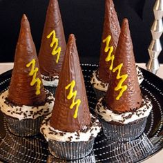 Well, they're on top of cupcakes. But each one has a lightning bolt so you'd know that they're inspired by Harry Potter.