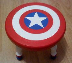 Now you can reach for that shelf by stepping on Captain America's shield. I'm sure he wouldn't be too happy.