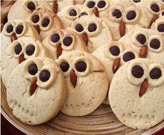 These are sugar cookies with markings, chocolate chip eyes, and a pretzel nose. And they're adorable.
