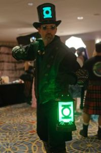 Because this guy has a green lantern. And yes, this is a Steampunk version.