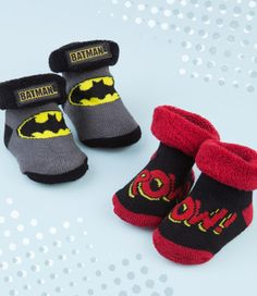 Come in two pairs. One is Batman and the other consists of sound effects. Still, both are so cute.