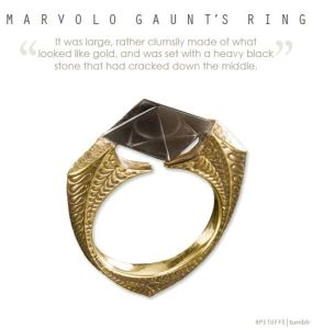 It's a horcrux that used to contain a Resurrection Stone. However, when Dumbledore wore it, it withered his hand and led him to seek assisted suicide. Hey, it was to save Draco Malfoy's life, too.