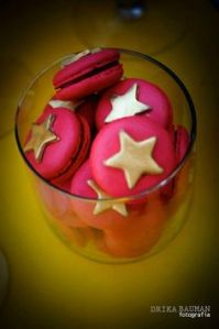 Well, they're listed as Wonder Woman macarons on Pinterest. But they could easily be for 4th of July if made by then.