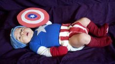 However, as of now, he's just a super diaper filler. Still, this is just so adorable to see a baby Captain America.