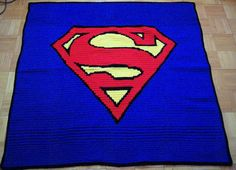 This one is blue with the Superman symbol on it. It's said to mean peace according to the Kryptonians, though after enduring a shitload of collateral damage.