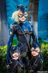 Yes, Catwoman sure loves her little ones with her. Let's hope she hasn't taken up stealing jewelry again. So cute.