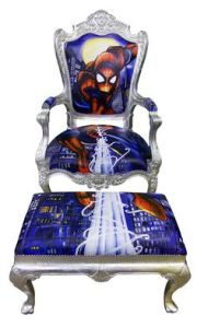 Sure you might think this is fine furniture. Until you notice that the cushioning depicts Spider Man. Still, I'm sure Peter Parker can't afford this if his life depended on it.