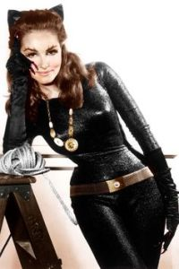 This is Catwoman in what she had on during the 1960s Batman series. It's kind of considered a camp type of entertainment.