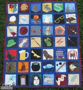 Yes, I know it's another quilt. But this one contains stuff pertaining to the books.