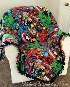 The Avengers seem to be all over each other in this one. But the blanket sure looks warm and comfy.