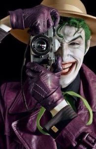 To be honest, would you want the Joker to take your picture? Didn't think so.