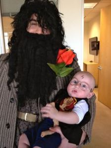 Well, it's about time I had Hagrid on this post. After all, he's a rather important character. Also, this is cute.