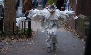 That's another cute Hedwig costume. Wonder how long it took to make that.