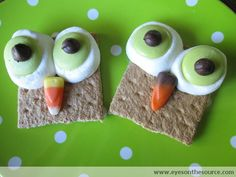 Sure the nose is made from candy corn which is sugar wax. But these are cute.